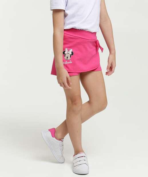 Image_Short Saia Infantil Estampa Minnie Disney