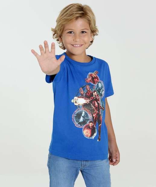 Image_Camiseta Infantil Manga Curta Os Vingadores Marvel