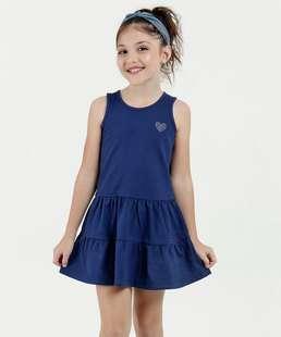 Vestido Infantil Strass Sem Manga Marisa