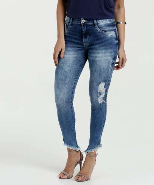 Image_Calça Feminina Jeans Cigarrete Destroyed Biotipo