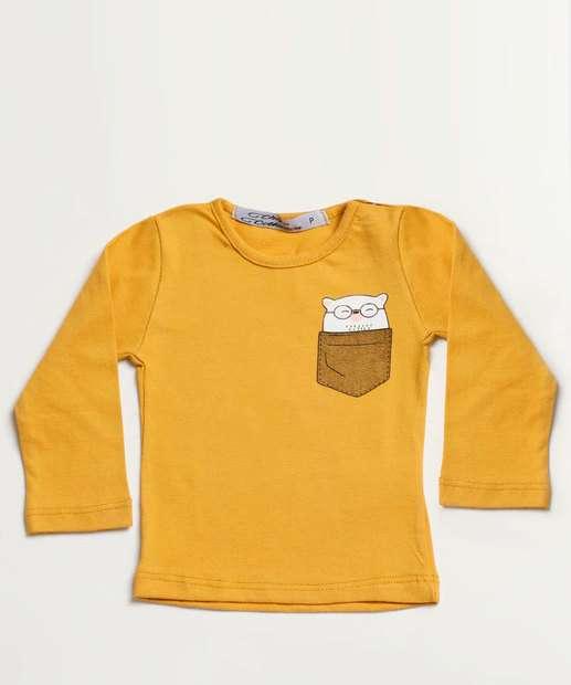 Image_Camiseta Infantil Estampa Coruja Manga Longa