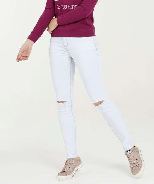 Image_Calça Jeans Feminina Skinny Destroyed Five Jeans