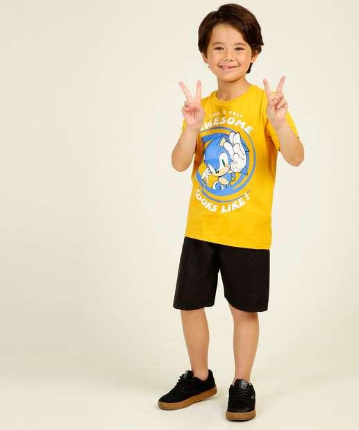 Image_Conjunto Infantil Manga Curta Sonic Tam 4 a 10