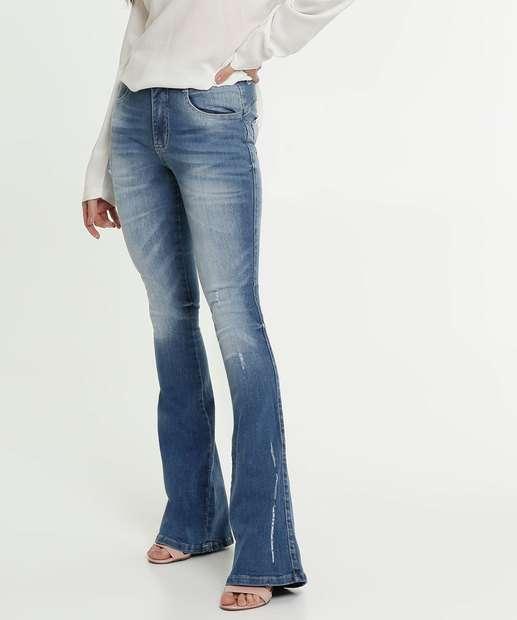 Image_Calça Jeans Flare Feminina Puídos Biotipo