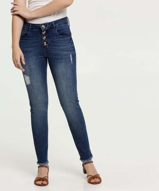 Image_Calça Jeans Skinny Puídos Feminina Marisa