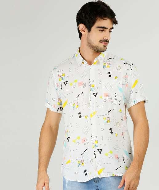 Image_Camisa Masculina Estampa Geométrica Manga Curta MR