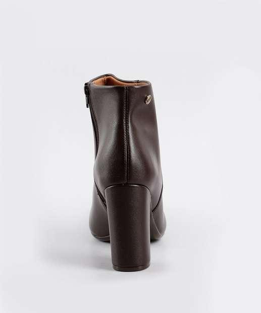 Cano 3068100 MARROM Feminina Boot Bota Vizzano Bota Ankle Feminina Curto CwX87qB