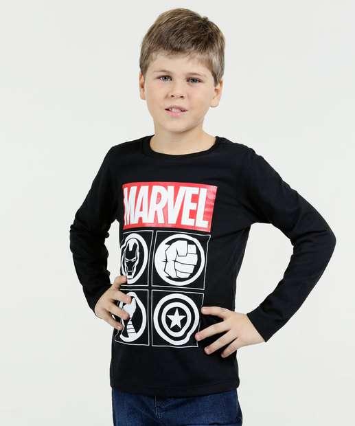 Image_Camiseta Infantil Os Vingadores Manga Longa Marvel