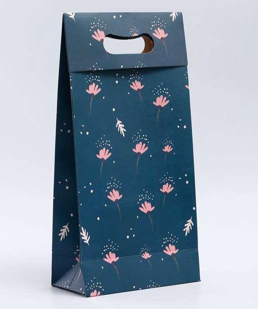 Image_Embalagem Presente Sacola Estampa Flores Marisa