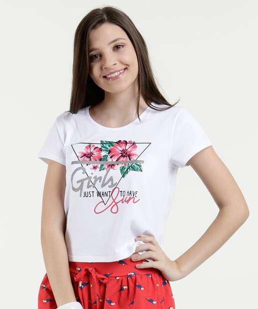 Image_Blusa Juvenil Estampa Floral Manga Curta Marisa