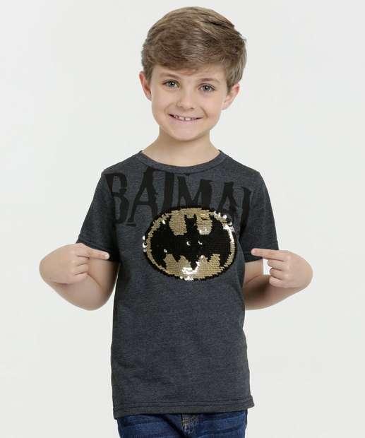 Image_Camiseta Infantil Estampa Batman Paetês Liga da Justiça