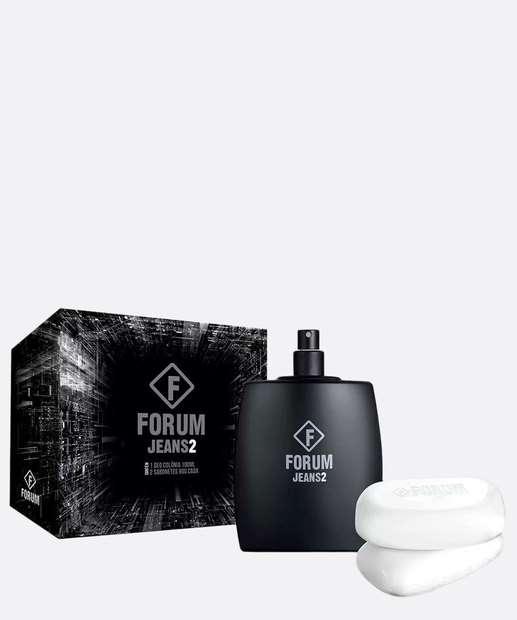 Image_Kit Perfume Masculino Jeans 2 Deo Colônia e 2 Sabonetes Forum Beauty 100ml
