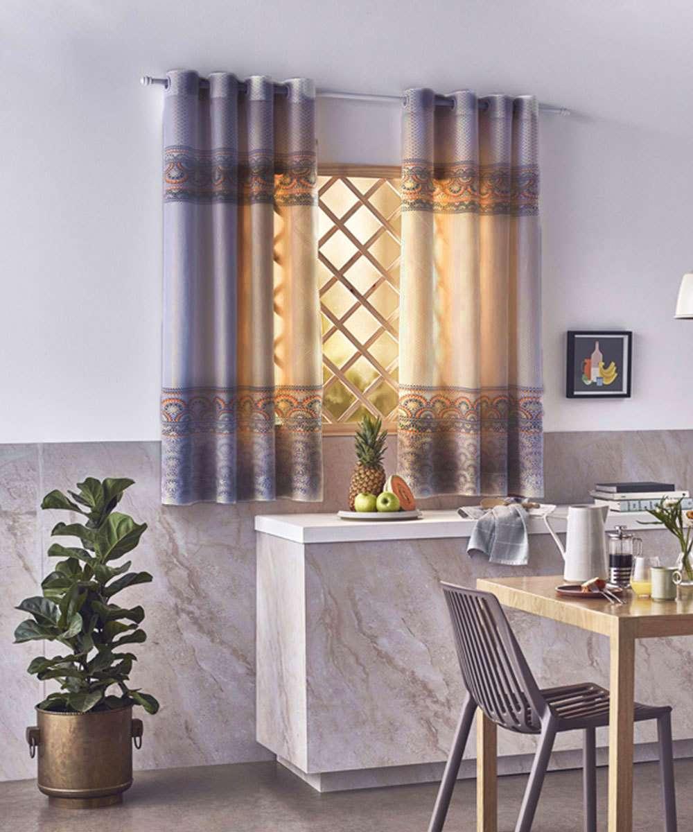 Cortina de Cozinha Estampada Toscana Eliana Santista