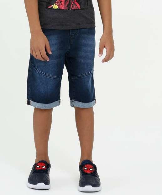 Image_Bermuda Infantil Jeans Moletinho