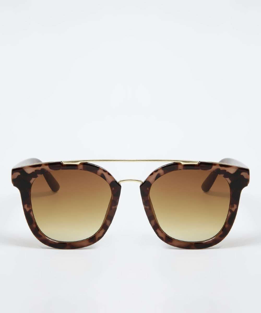 Óculos de Sol Feminino Vintage Animal Print Marisa