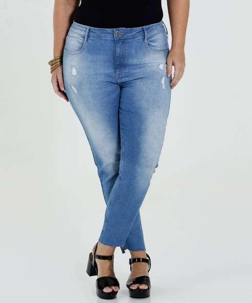 Image_Calça Feminina Jeans Cigarrete Destroyed Plus Size Marisa