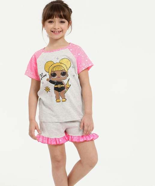 Image_Pijama Infantil Neon Estampa Frontal Manga Curta LOL