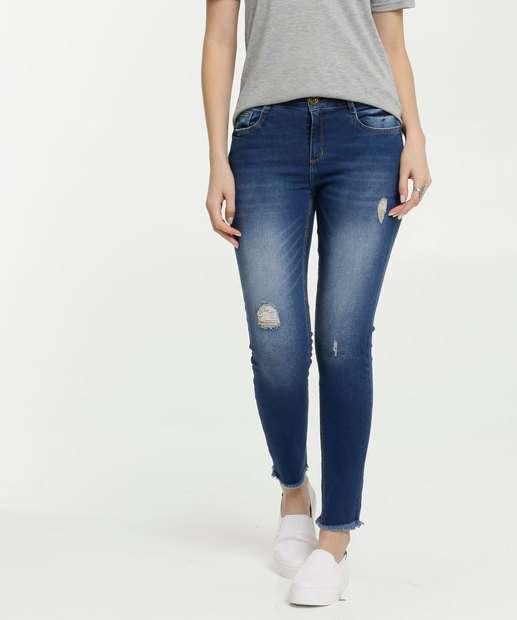 Image_Calça Jeans Destroyed Cigarrete Feminina Marisa