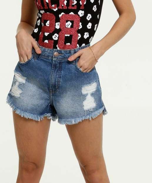 Image_Bermuda Feminina Jeans Destroyed Barra Desfiada Marisa