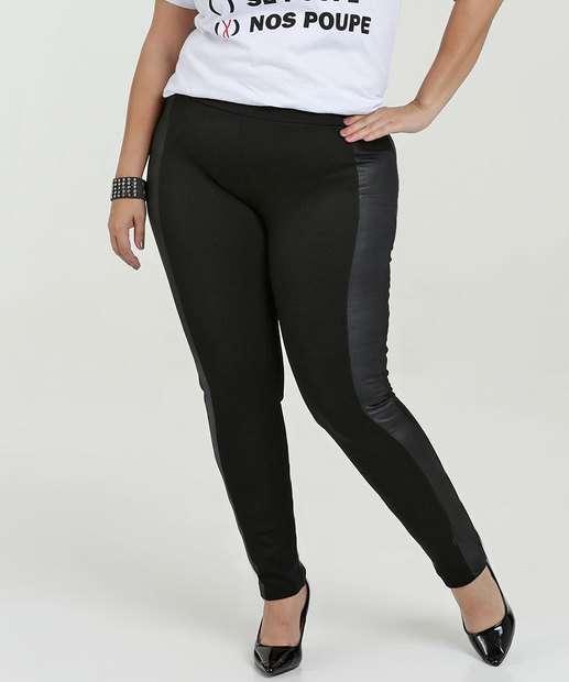 ce83a07c6 Calça Feminina Legging Recorte Plus Size