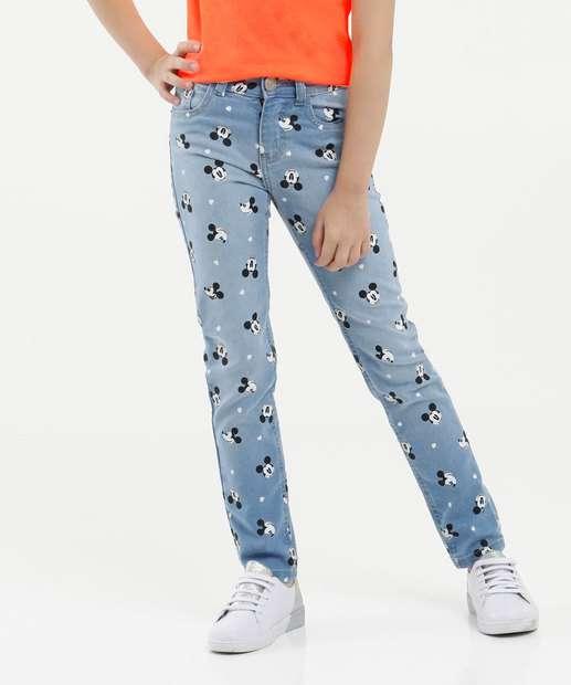 Image_Calça Infantil Jeans Estampa Mickey Disney