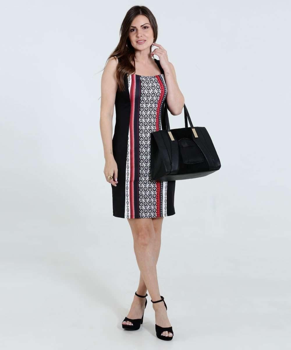 73a7c2a85 Vestido Feminino Decote Quadrado Marisa | Menor preço com cupom