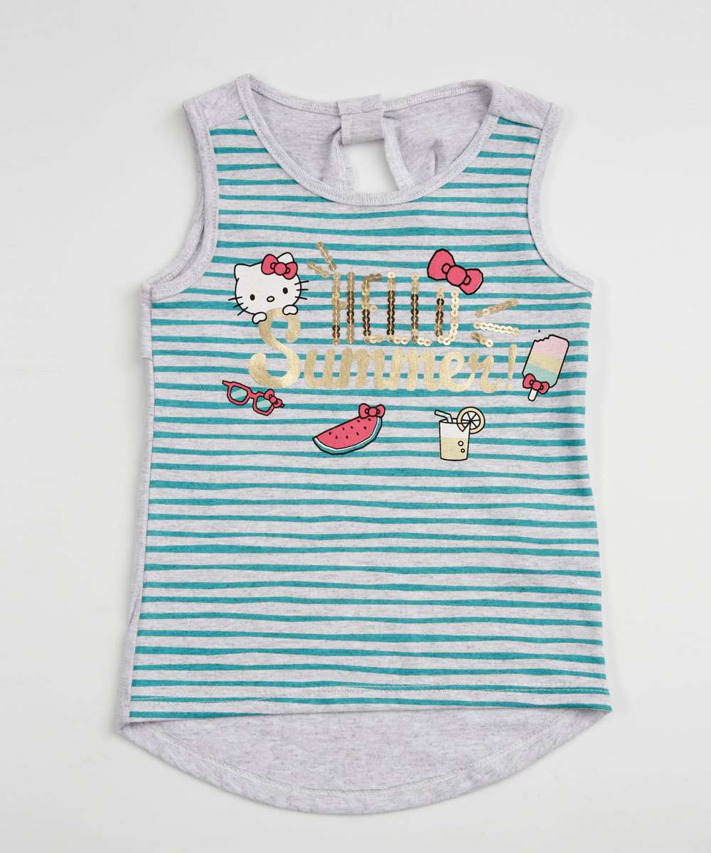 Regata Infantil Listrada Estampa Hello Kitty Sanrio