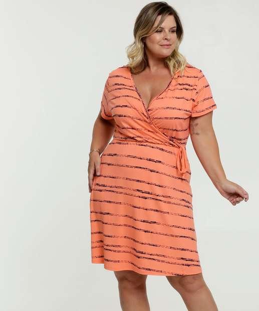 Image_Vestido Feminino Transpassado Listrado Plus Size Marisa