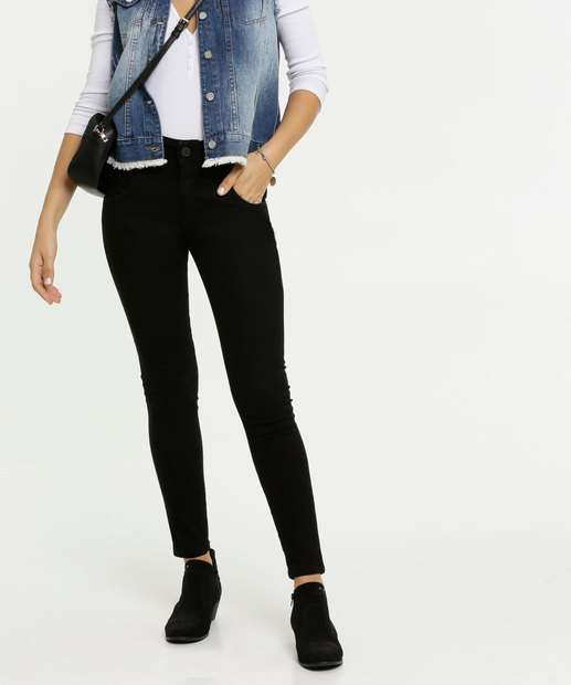 Image_Calça Feminina Sarja Skinny Zune Jeans By Sabrina Sato