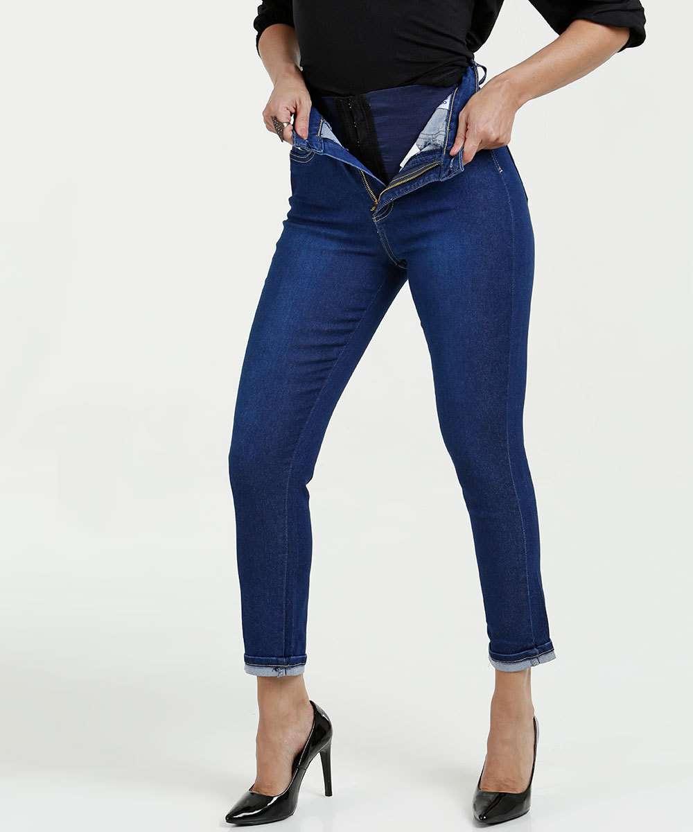 ac76f3e65 Calça Feminina Jeans Cigarrete Super Lipo Modeladora Sawary