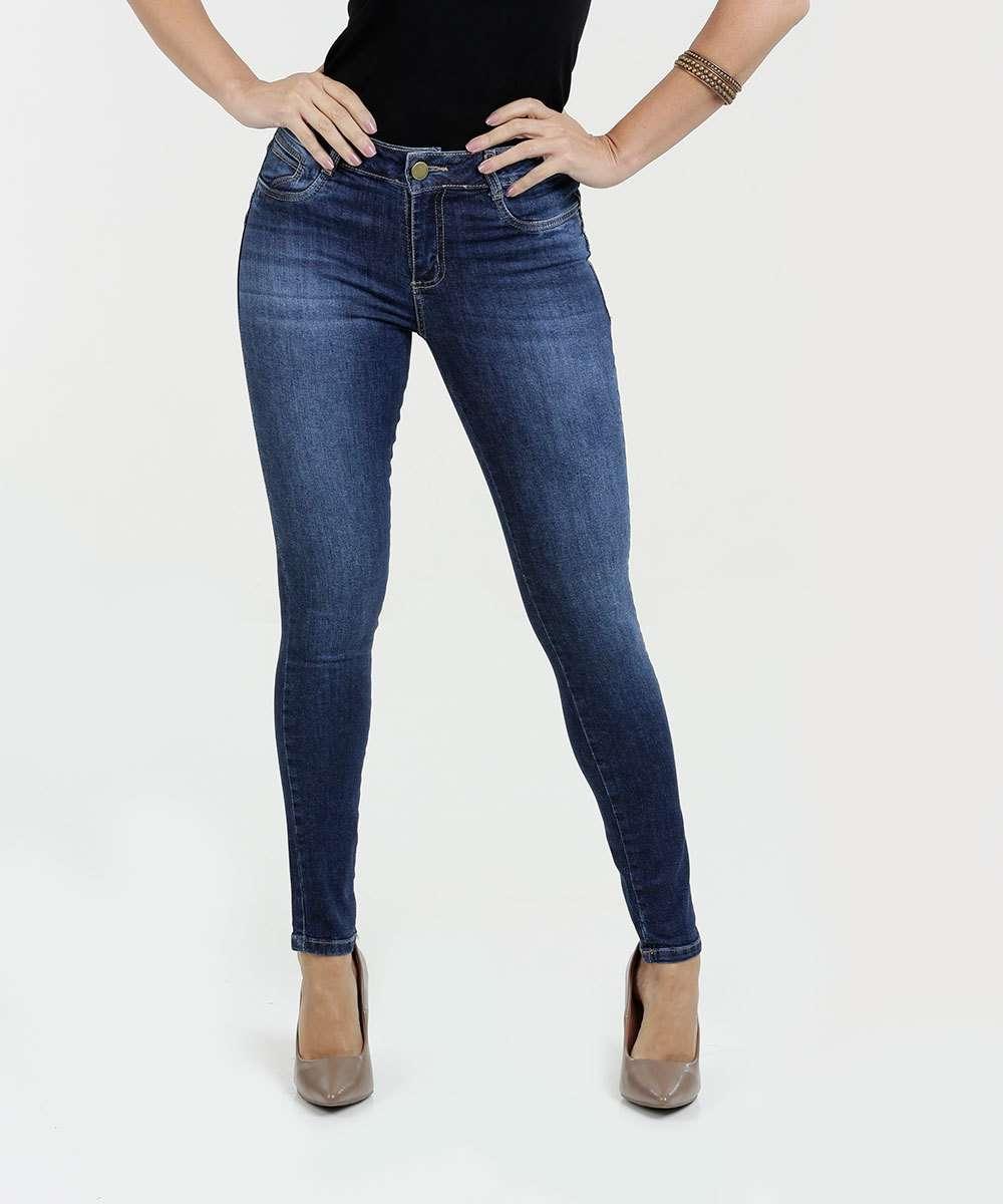 3a8c2ac0b Calça Feminina Jeans Skinny Levanta Bumbum Sawary | Marisa