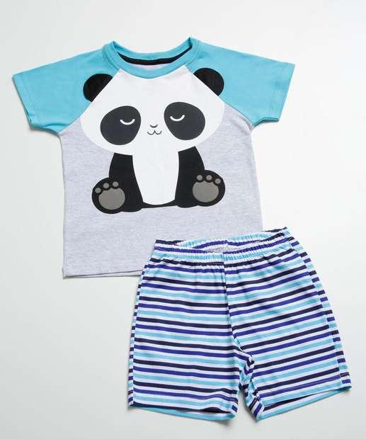 Image_Pijama Infantil Estampa Panda Manga Curta MR