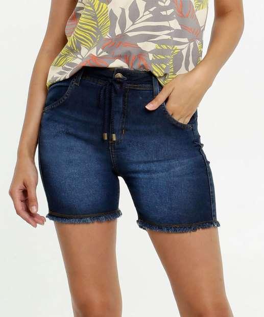 Image_Short Feminino Jeans Cinto Barra Desfiada Marisa