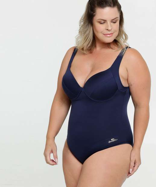 Image_Maiô Feminino Vazado Plus Size Banho de Mar