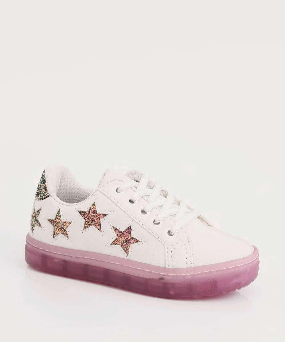 Tênis Infantil Estrelas Glitter Marisa