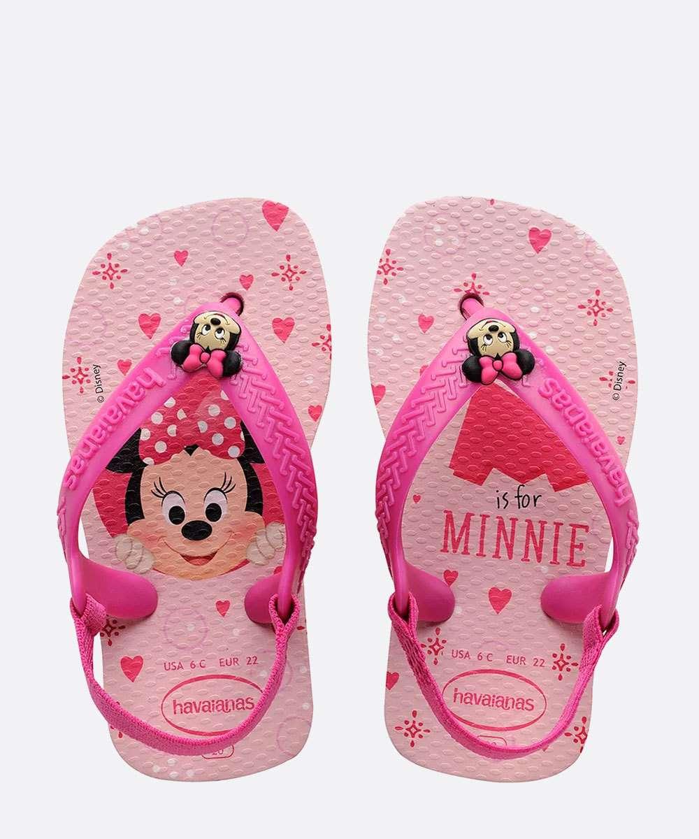 Chinelo Havaianas Infantil Baby Estampa Minnie