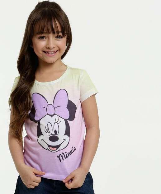 Image_Blusa Infantil Estampa Tie Dye Minnie Manga Curta Disney
