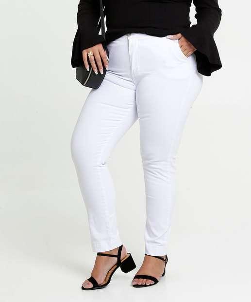 Image_Calça Feminina Sarja Skinny Bolsos Plus Size Razon