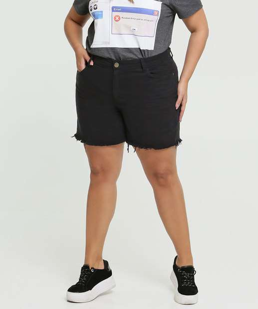 Image_Short Feminino Sarja Barra Desfiada Plus Size Marisa