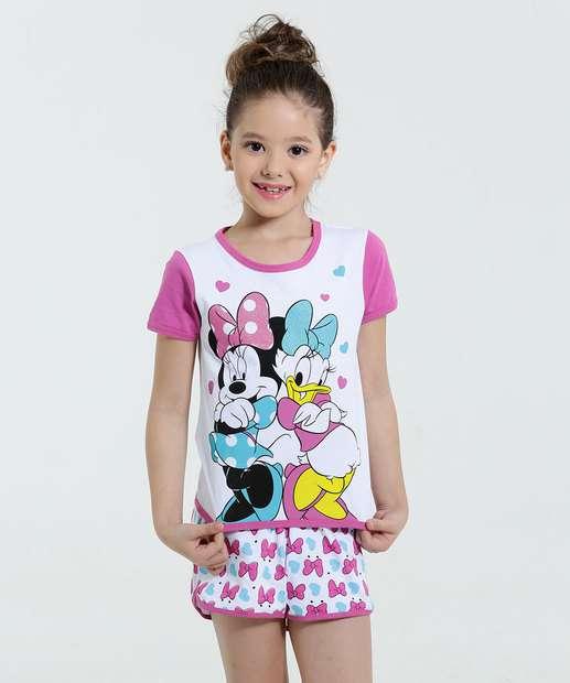 Image_Pijama Infantil Estampa Minnie Margarida Disney