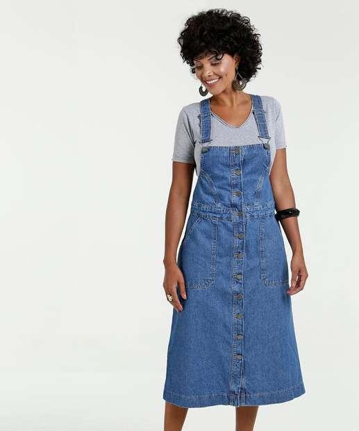 Image_Salopete Feminina Jeans Midi Marisa