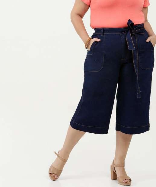 Image_Calça Feminina Jeans Pantacourt Plus Size