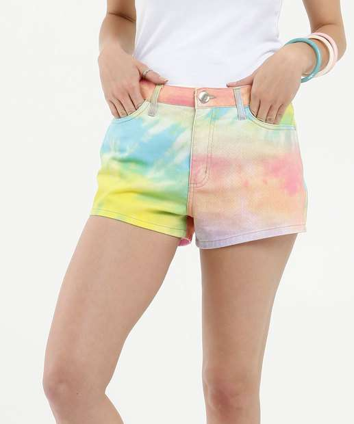 Image_Short Feminino Jeans Estampa Tie Dye Marisa