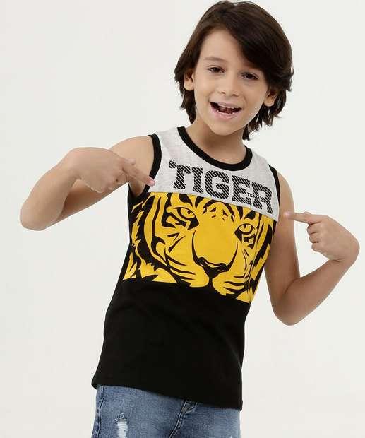 Image_Regata Infantil Bicolor Estampa Tigre