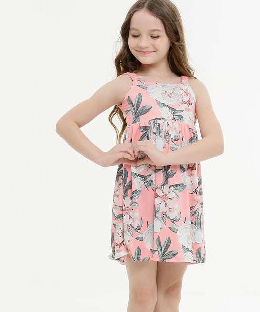 Image_Vestido Infantil Sem Manga Floral Tam 4 a 10