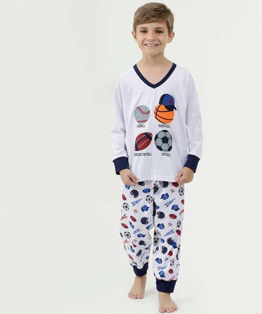Image_Pijama Infantil Estampa Frontal Manga Longa DeMillus