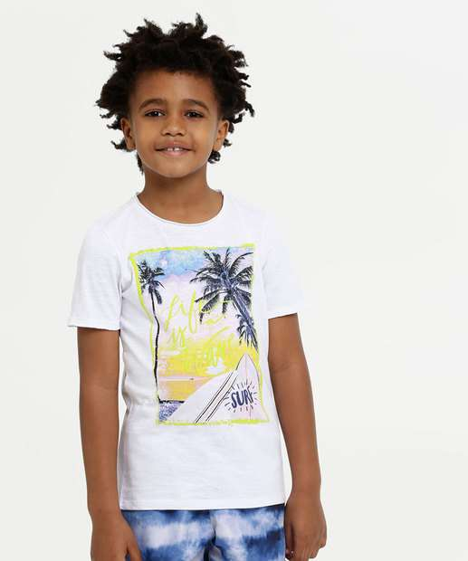 Image_Camiseta Infantil Estampa Tropical Neon MR