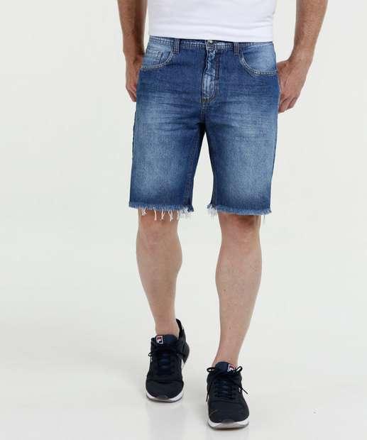 Image_ Bermuda Masculina Jeans Barra Desfiada MR