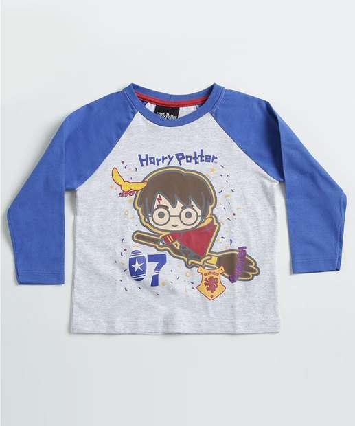 Image_Camiseta Infantil Harry Potter Manga Longa Warner Bros