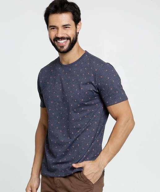Image_Camiseta Masculina Estampa Folha Manga Curta MR